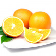 Stock Photo: Oranges on Plate