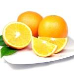 Oranges on Plate — Stock Photo #2557889