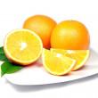 Oranges on Plate — Stock Photo