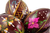 Three Easter Paited Eggs close-up — Stock Photo