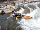 Whitewater Rafter — Stock Photo