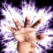 Electric Hand — Stock Photo