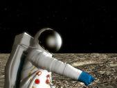 Astronaut On The Moon — Stock Photo