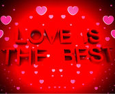 Love Is The Best With Hearts — Stock Photo