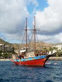 Sail Boat In Harbor — Stock Photo