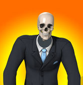 Skeleton zakenman — Stockfoto