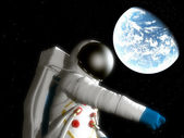 Spaceman With Alien Planet — Stock Photo