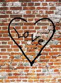 Urban Wall Love — Stock Photo