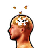 The Puzzle Of Mind Lost — Stock Photo