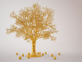 Golden tree — Stock Photo
