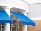 Blue Awnings — Stock Photo
