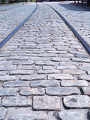 Cobblestone Tracks — Stock Photo