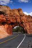 Red canyon tunel — Stock fotografie