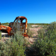 Rusting truck in opal fields — Stock Photo