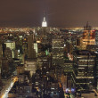 New York City Panorama at night — Foto Stock