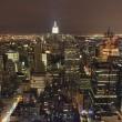 New york city panorama's nachts — Stockfoto #2567640