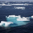 Ice floe in the canadian arctic - Stock Photo