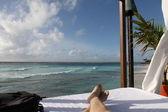 Relaxando no caribe — Fotografia Stock