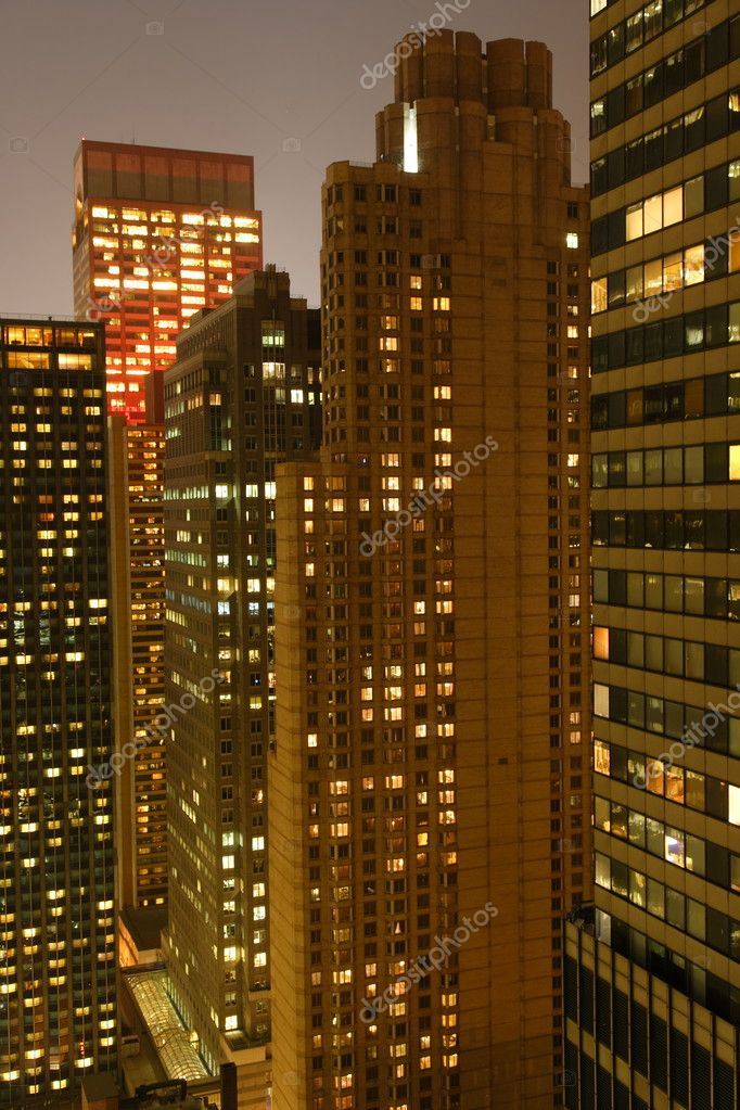 New York buildings at night — Stock Photo #2566647