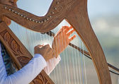 Harp and Hands — Stock Photo