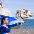 Royalty-Free Stock Photo: Belly Dancer with Camel