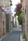 Side street in Lagrasse — Stock Photo