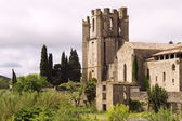 St Marys Abbey Lagrasse — Stock Photo