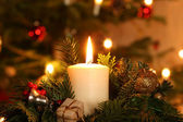 Advent candle — Stock Photo