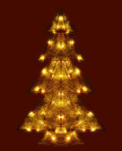 Shining Christmas tree — Stock Photo