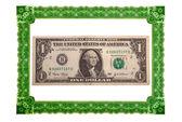 Dollar and decorative frame — Stock Photo