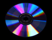 CD on a black background — Stock Photo