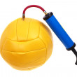 Ball and pump — Stock Photo