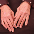 Hands of an old woman — Stock Photo