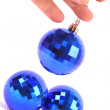 Christmas Blue glass ball — Stock Photo