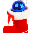 Red Christmas boot - Stock Photo
