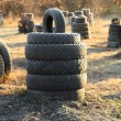 Stacked of old tires — Stock Photo