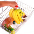 Shopping Basket of Food — Stock Photo