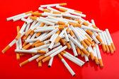 Heap of cigarettes — Stock Photo