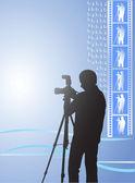 Digital photographer — Stock Vector