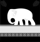 White elephant — Stock Vector