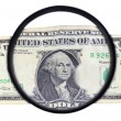 Dollar in macro mode — Stock Photo