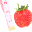 Strawberry and centimeter — Stock fotografie