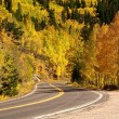 Autumn drive in the Rocky Mountains — Stock Photo