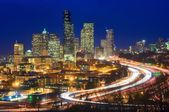 Interstate 5 attraverso il centro di seattle — Foto Stock