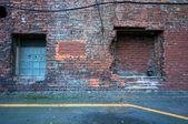 Urban scene, two squares — Stock Photo