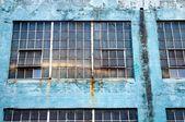 Urban scene, large windows — Stock Photo