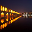 Sio Seh Pol Bridge by night - Stock Photo