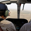 Pilots in helicopter cabin — Stock Photo #2594941