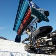 Stock Photo: Piste machine (snow cat)