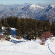 Footpath in winter mountains — Stock Photo